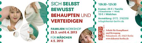 Selbstbehauptung und Selbstverteidigung – Workshops für Kleine und Große